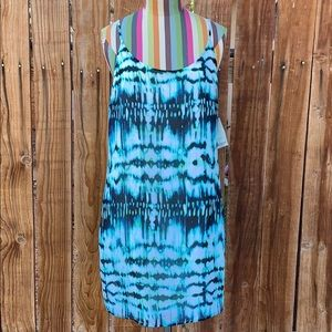 Decree Tie Dye Spaghetti Straps Mini Dress